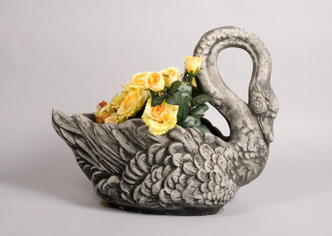 """Горшок для цветов """" Лебедь"""""""