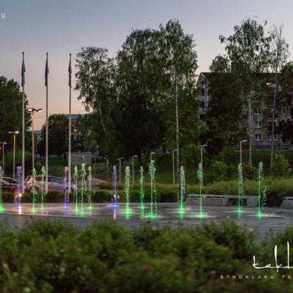 Sausā strūklaka GORS centrā Rēzeknē / 2013. gads